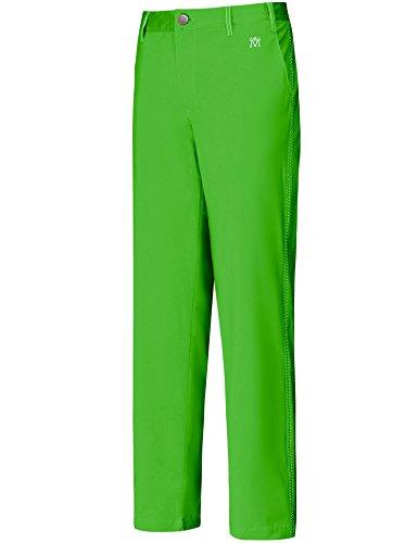 Lesmart Men's Golf Pants Straight Fit Full Length Flat Front Pockets Solid Size 36Wx33L Green M Logo