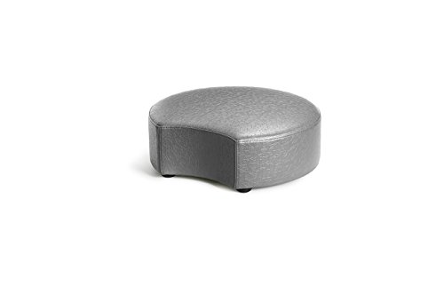 Logic Furniture MOONCCA06 Moon 2 Crescent Ottoman, 6'', Carbonite by Logic Furniture