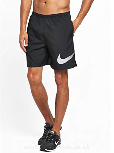 (NIKE Men's Dri-Fit City Core 7 inch Running Shorts - Black (X-Large))