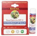 (Badger - Sunblock Lip Balm Water Resistant 15 SPF - 0.15 oz.)
