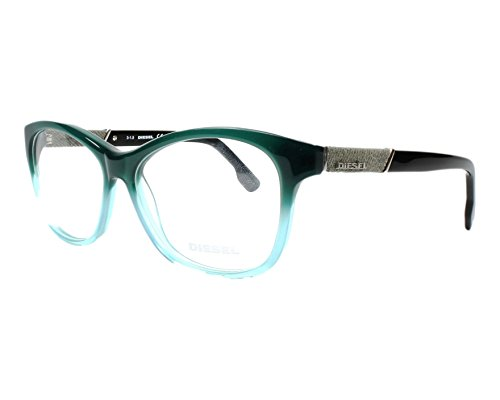 New Diesel Women's Eyeglasses DL5085 098 54-14-140 Dark Green/Azure 54mm Glasses