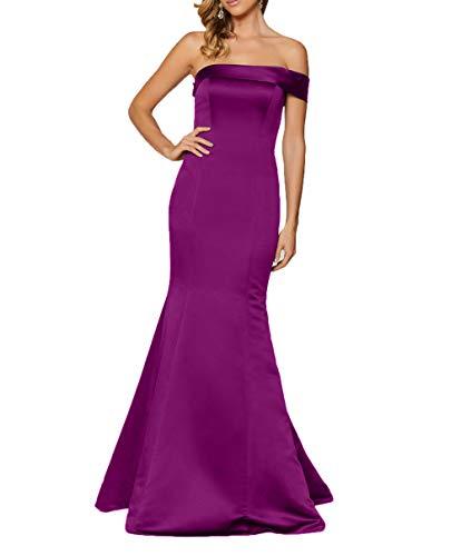 Meerjungfrau Braut Partykleider Lang mia La Abschlussballkleider Einfach Dunkel Elegant 2018 Ballkleider Abendkleider Etuikleider Fuchsia Satin vB5AZ