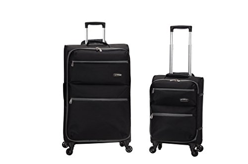 Rockland Gravity 2 Pc Light Weight Luggage Set, Black