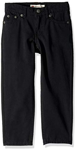 Levi's Boys' Little 502 Regular Fit Taper Jeans, Black Stretch, -