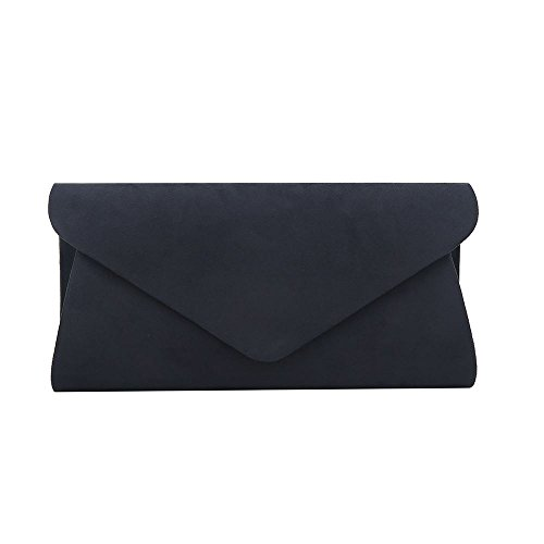 Wedding Party Hotstylezone HandBag Plain Hand Bag Clutch Purse Blue Evening Navy Suede Prom Ladies Envelope EaIpIq