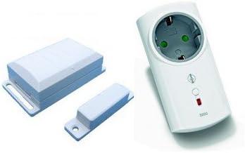 InterTechno - Control inalámbrico para campanas extractoras (con interruptor de contacto y enchufe intermedio, 3500 W): Amazon.es: Hogar