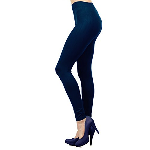 Womens Sexy Sea Monster Costumes (Seamless Stretch Full Length Basic Leggings Halloween Costumes (Navy Blue))