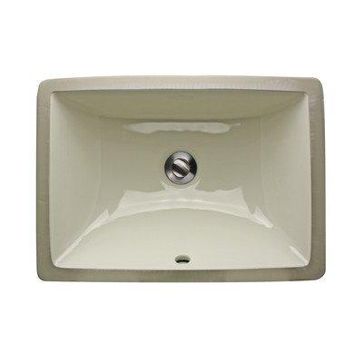 Nantucket Sinks UM-16x11-B 16-Inch x 11-Inch Rectangle Undermount Ceramic Vanity Bathroom Sink, - Bisque Undermount
