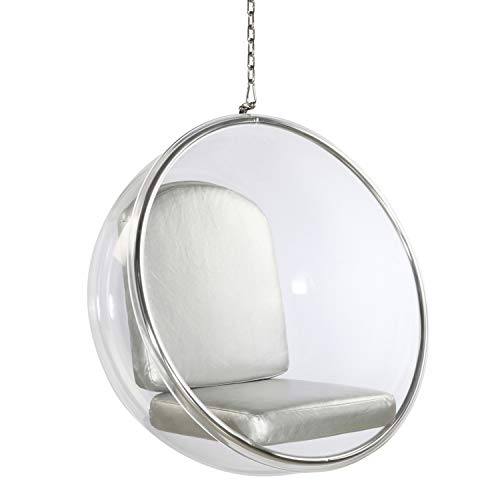 FineMod Bubble Hanging Chair, Silver