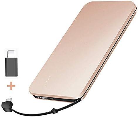 elzle Cargador portátil, Banco de energía de 10000mAh con Cable ...