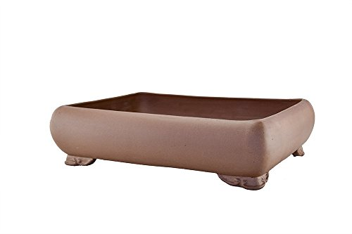 Extra Large Unglazed 20'' Rectangular Thin and Shallow Yixing Zisha Bonsai Pot (PA78-2) by BonsaiSupplies