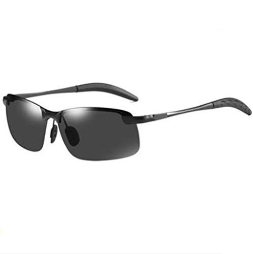 - TUTOU Day and Night Dual-Use Color Sunglasses Men's Polarized Driving Sunglasses Tide Driver Night Vision Night Driving Special Sunglasses,Black