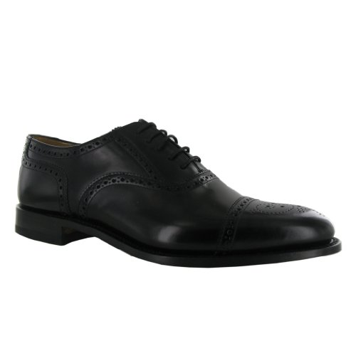 Mens 201B Shoes Brogue Semi Black Leather Loake qOSRzwS