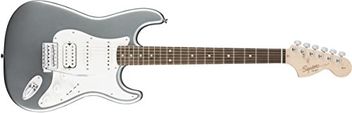 Squier by Fender Affinity Stratocaster HSS Beginner Electric Guitar - Rosewood Fingerboard, Slick Silver