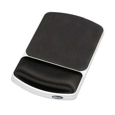 Fellowes Gel Mouse Pad with Wrist Rest Gray 91741 Pack Of 4 by Fellowes