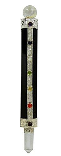 HARMONIZE Tourmaline Stone 7 Chakra Wand Spiritual Reiki Healing Stone Balancing Energy Generator