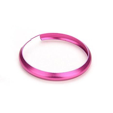 personalizedco Anillo protector colorido llavero de metal llavero Mini Cooper Llave Inteligente,rosa