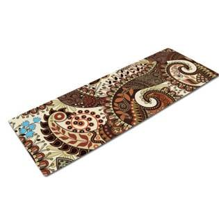 Ecowise Naturals - Abundant Life Yoga Yoga Mat with Integrated Towel by Premium Eco Friendly Mats - Improve Your Bikram, Ashtanga, and Hot Yoga - Bonus Carrying Strap Included - Order Today! (Calming Ornate)