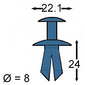 10 x Verkleidung Clips Plastik Niete Sto/ßf/änger /& Schutzblech Body /& Rand Panel Clipse F/ür