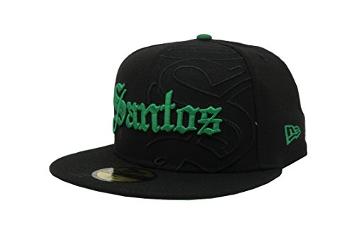 New Era 59Fifty Hat Santos Laguna Soccer Club Liga Mx Grand Logo Black Fitted Cap (7 3/8)