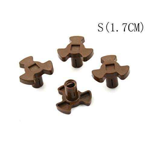 4X Microwave Oven Mica Plates Repairing Part Heat Resistance Turntable Coupler S(1.7CM)