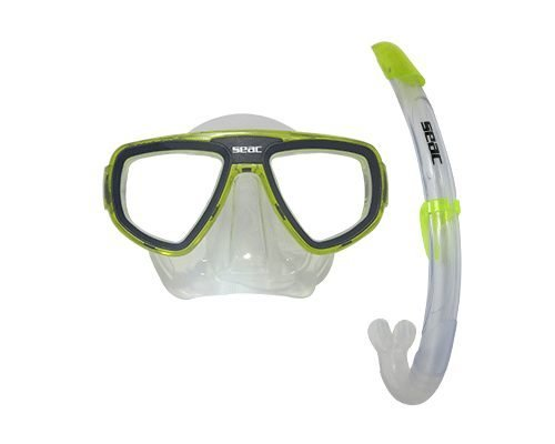 SEAC Set Bis Extreme Mask & Snorkel, Yellow by SEAC