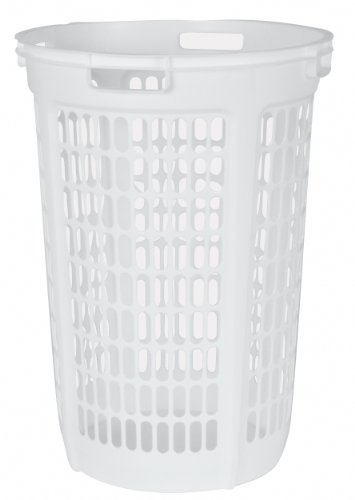 United Solutions LN0045 Two Bushel White Laundry Hamper - 2 Bushel Laundry Hamper in White