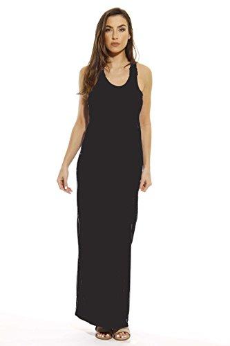 (Just Love 3250-BLK-M Summer Dresses/Maxi Dress Heathered Black)