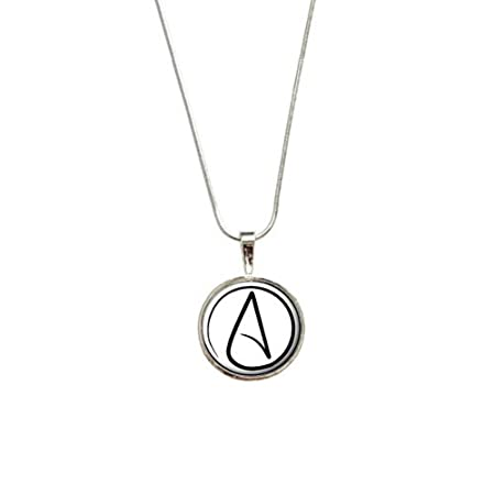 Atheism atheist symbol pendant with sterling silver plated chain atheism atheist symbol pendant with sterling silver plated chain aloadofball Choice Image