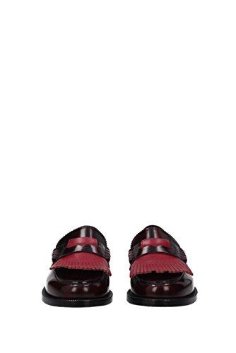 Burberry Mocassini Uomo - Pelle (406939) Eu Rosso