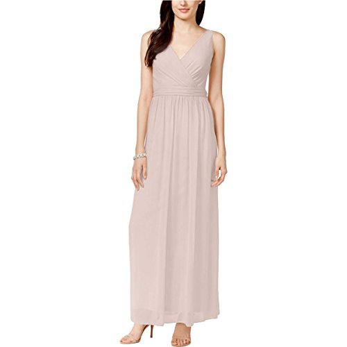 Adrianna Papell Womens Chiffon Drape Back Evening Dress BEIGE12
