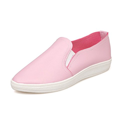Synthetic Loafer MINIVOG Shoes MINIVOG Leather Pink Flats Womens Womens wntgP7WxgZ