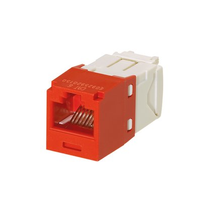 Panduit Mini-Com TX6 Plus Giga-Channel Cat6 Jack, Red, Pack of 24 (Tx6 Jack)
