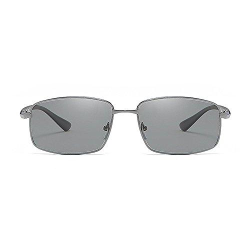 carrés Cadre GWF Soleil Conduite Lunettes de Protection Classique en de métal Lunettes Silver Couleur Noir Soleil de Cool Soleil aviateur de Hommes polarisées Lunettes UV OarvOq