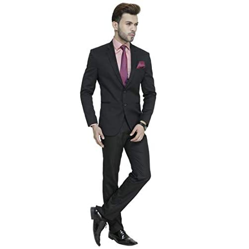 31xsX 0fHDL. SS500  - MANQ Men's Slim Fit Party/Formal Suit (Pack of 2)