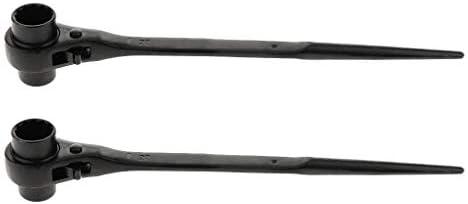 2ピース ラチェットレンチ ラチェットスパナ ラチェット式 作業工具 12角形 CR-V鋼材