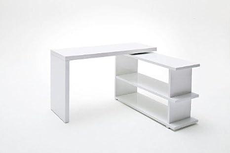 Scrivania Ufficio Bianco Lucido : Dreams home scrivania tino bianco lucido mdf ufficio tavolo pc