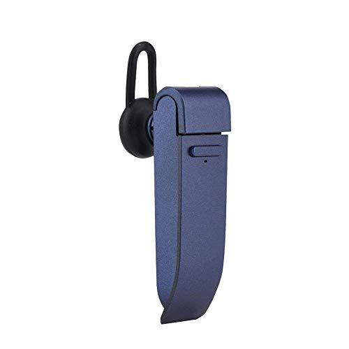 YUYUETRA Portable Bluetooth Smart Language Translator Device, 16 Languages Wireless Translator Headset for Learning Travelling Business Meeting,Blue