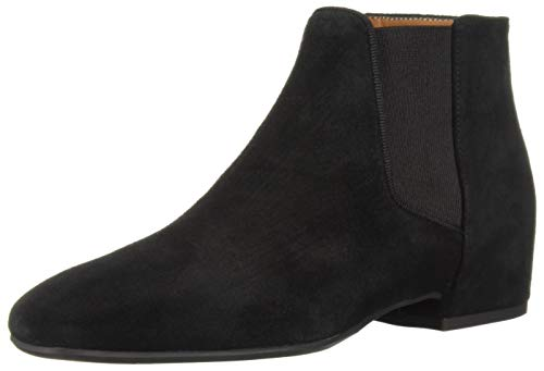 Aquatalia Women's ULYANA Suede Chelsea Boot, Black, 9 M US