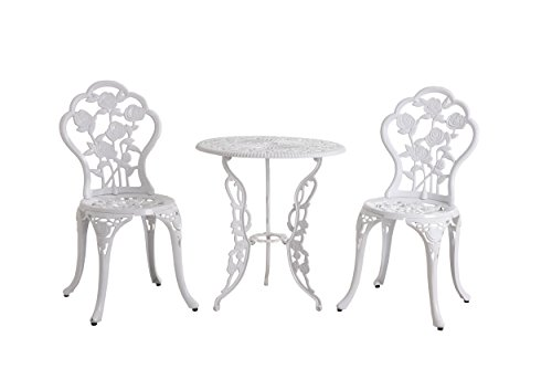Sunjoy Rosier Bistro Set 3pcs,White