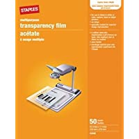 Universal Film Without Sensing Stripe, Black or Color, 50 Sheets, 8.5 x 11