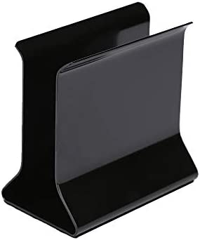 Napkin Holder Iron Black DIY Possible Non-Scratch Non-Slip Anti-Fall for Tables Kitchen Countertops Strong Napkin Holders for Household Restaurant Hotel Simple Design