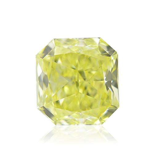 0.67Cts Fancy Yellow Loose Diamond Natural Color Radiant Cut GIA Certificate