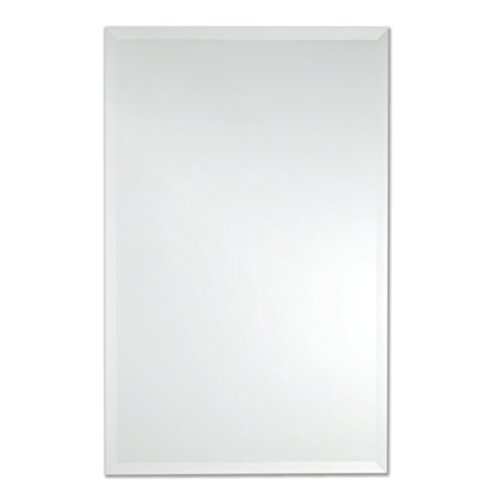 Frameless Rectangle Wall Mirror | Bathroom, Vanity, Bedroom Rectangular Mirror | 24-inch x 36-inch (Large)