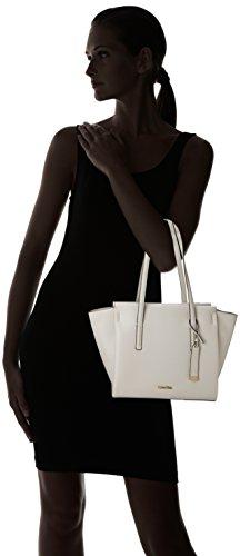 Bolsos Blanco Cement Calvin Medium totes Shopper Mujer Klein Frame w8vzIqz1U