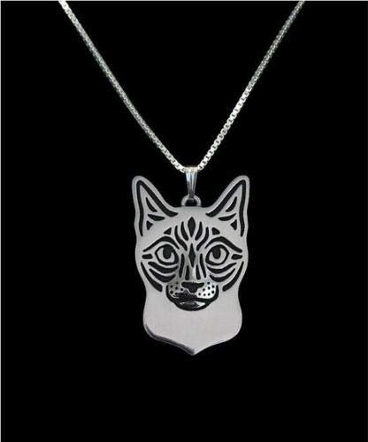(Siamese Cat Silver Charm Pendant Necklace, Gifts for Her, Friend Gifts Cat Lover)