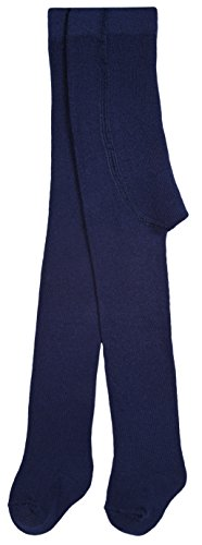 Lilax Baby Girl's Basic Solid Cotton Footed Tights 12-24M Navy