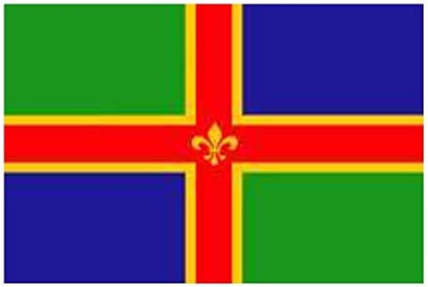 LINCOLNSHIRE FLAG FLAGS 5/'X3/' BRAND NEW EYELETS POLYESTER