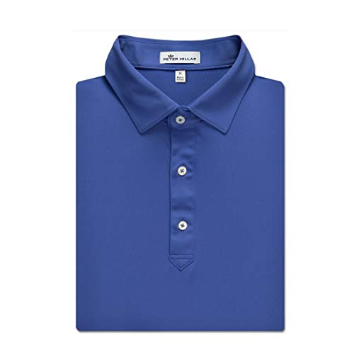 PETER MILLAR Solid Performance Polo (Blue, XL) from PETER MILLAR