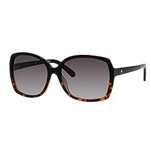 Kate Spade Women's Darilynn Square Sunglasses, Black Tortoise Fade & Gray Gradient, 58 mm